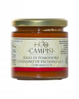 Sugo di Pomodoro Ciliegino di Pachino IGP con basilico - vaso vetro 220 g - Campisi