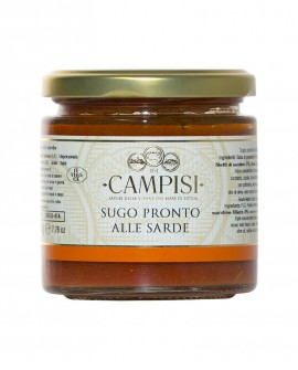 Sugo pronto al Sarde con pomodoro ciliegino - vaso vetro 220 g - Campisi
