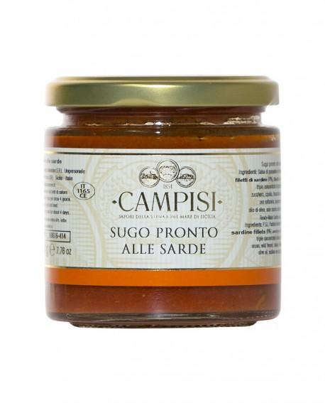 Sugo pronto alle Sarde con pomodoro ciliegino - vaso vetro 220 g - Campisi