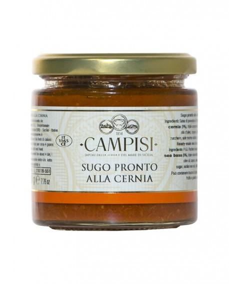Sugo pronto alla Cernia con pomodoro ciliegino - vaso vetro 220 g - Campisi
