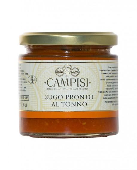 Sugo pronto al Tonno con pomodoro ciliegino - vaso vetro 220 g - Campisi