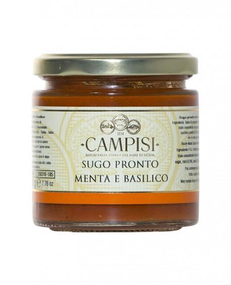 Sugo pronto Menta e Basilico pomodoro ciliegino - vaso vetro 220 g - Campisi