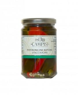 Peperoncini ripieni di Acciughe - vaso vetro 690 g - Campisi