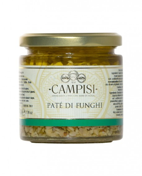 Patè di Funghi - vaso vetro 220 g - Campisi