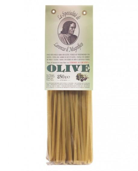 Olive Verdi Fettuccine  Lorenzo il Magnifico 250 gr Pasta Aromatizzata - Antico Pastificio Morelli