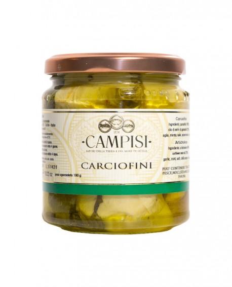 Carciofi sott'olio - vaso vetro 290 g - Campisi
