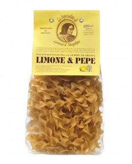 Limone E Pepe Pappardelline Germe di Grano Lorenzo il Magnifico 250 gr Pasta Aromatizzata Antico Pastificio Morelli