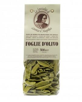 Spinaci Foglie D'ulivo Lorenzo il Magnifico 500 gr Pasta Aromatizzata - Antico Pastificio Morelli