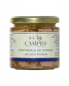 Ventresca di Tonno in Olio di Oliva - vaso vetro 220 g - Campisi