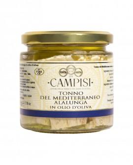 Tonno del Mediterraneo in Olio di Oliva - vaso vetro 220 g - Campisi