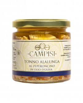 Tonno del Mediterraneo al Peperoncino in Olio di Oliva - vaso vetro 220 g - Campisi