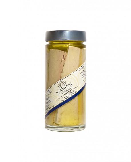 Tonno Alalunga del Mediterraneo in Olio di Oliva - vaso vetro 600 g - Campisi