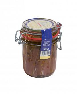 Filetti di Acciughe Extra al Peperoncino in Olio di Oliva vaso ermetico 340g - Campisi