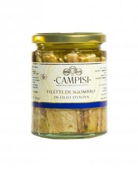 Filetti di Sgombro in Olio di Oliva - vaso vetro 300 g - Campisi