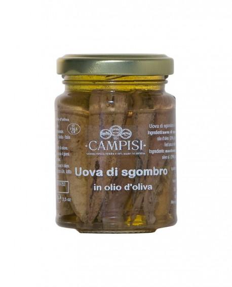 Uova di Sgombro in Olio di Oliva - vaso vetro 100 g - Campisi