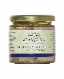 Ventresca Ricciola in Olio di Oliva - vaso vetro 220 g - Campisi