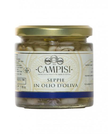 Seppie in Olio di Oliva - vaso vetro 220 g - Campisi
