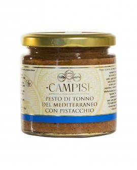 Pesto di Tonno del Mediterraneo con Pistacchio - vaso vetro 210g - Campisi