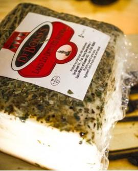 Lard Douce al ginepro Baffa taglio S.V. 2 kg - stagionatura 30gg - De Bosses
