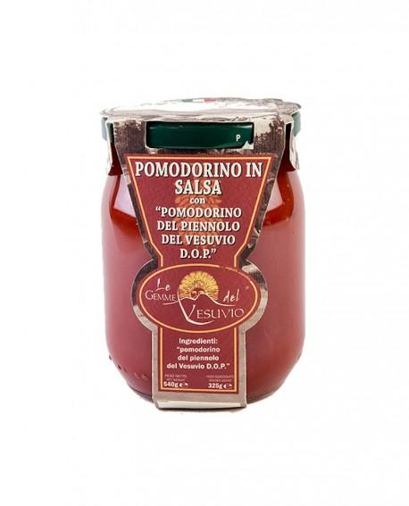 Pomodorino in salsa con Pomodorino del Piennolo del Vesuvio DOP - in vetro da 540 gr - Le Gemme del Vesuvio