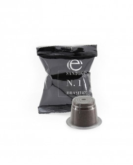 Capsule clone Nespresso - Caffè Monorigine - Santos n.1 - Confezione da 50 pezzi - Caffè Poli