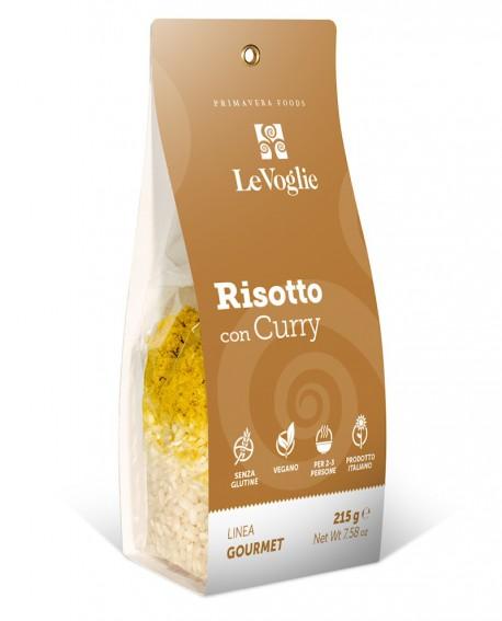 Risotto con Curry senza glutine - 215g linea gourmet - Le Voglie - Primavera Foods