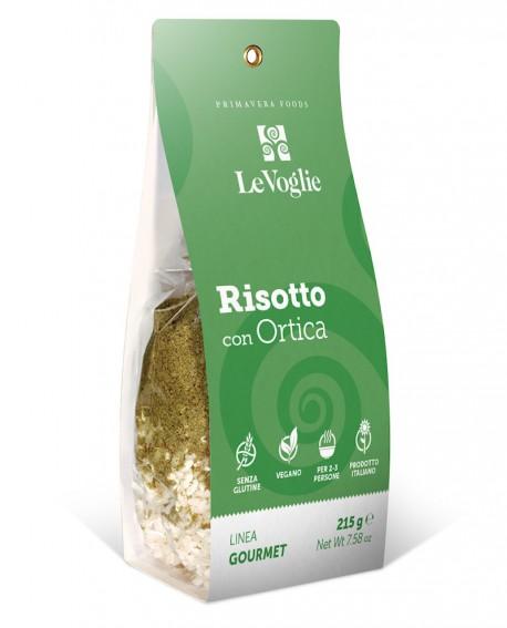 Risotto con Ortica senza glutine - 215g linea gourmet - Le Voglie - Primavera Foods