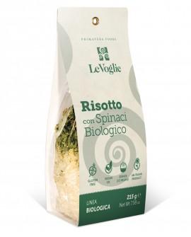 Risotto con Spinaci Biologico senza glutine - 215g linea gourmet - Le Voglie - Primavera Foods