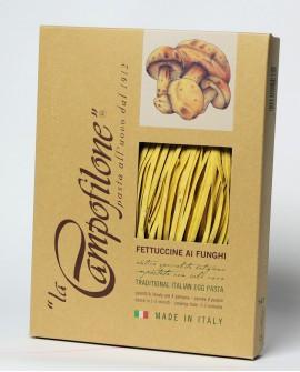 Fettuccine all'uovo ai funghi 250g - La Campofilone