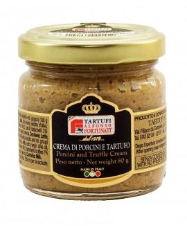 Crema di porcini tartufati 80 g, in vasetto di vetro - Tartufi Alfonso Fortunati