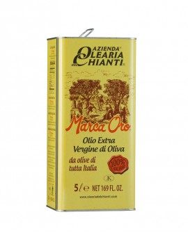 Lattina Marca Oro Olio Extravergine d'oliva 100% Italiano 5 lt. - Azienda Olearia del Chianti