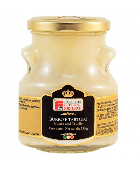 Burro al tartufo estivo 250 g, sterilizzato in vasetto di vetro - Tartufi Alfonso Fortunati
