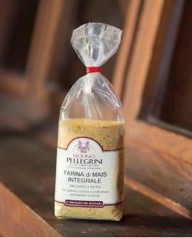 Farina di mais integrale macinata a pietra - sacco 25 kg - Molino Pellegrini