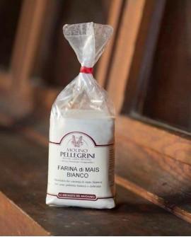 Farina di mais bianco macinata a pietra - Linea Specialità - 500g - Molino Pellegrini
