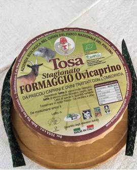 Formaggio Ovicaprino Stagionato Biologico (misto pecora e capra) 2,0-2,2 kg - Formaggi Tosa