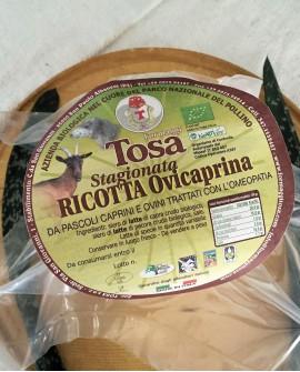Ricotta Ovicaprina Stagionata Biologico (misto pecora e capra) 650-700 g - Formaggi Tosa