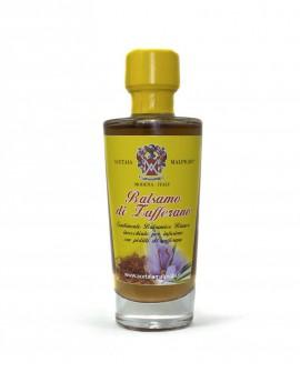 Condimento Balsamico Aromatizzato Balsamo Zafferano - base bianca 100 ml - Acetaia Malpighi