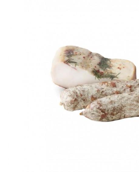 Lardo di Cinta Senese trancio 300 g SV - Stagionatura 4 mesi -  Salumeria di Monte San Savino