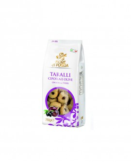 Taralli alla cipolla e olive 250 x 14 - Fiore di Puglia