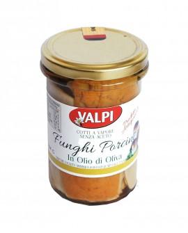 Funghi porcini tagliati sotto olio di oliva 540 g - Valpi