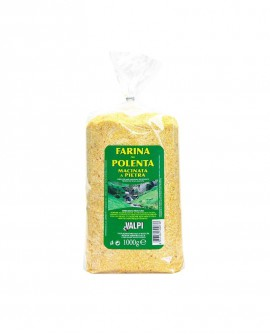 Farina Polenta macinata a pietra 1000 g - etichetta verde - Valpi
