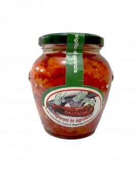 Peperoni in Agrodolce - Peperone di Pontecorvo DOP - Vaso Orcio 280 g - Azienda Agricola Il Ponte