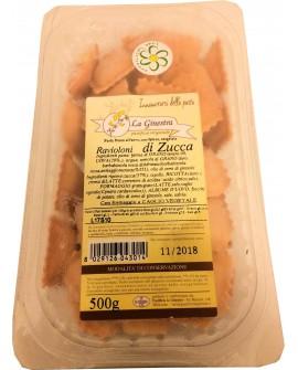 Ravioloni alla zucca - 500 g pasta fresca all'uovo ripiena SURGELATA - Pastificio La Ginestra
