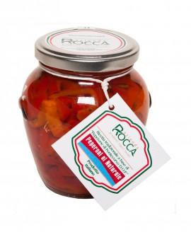 Peperoni al Naturale di Pontecorvo DOP - Vaso Orcio 296 g - Azienda Rocca