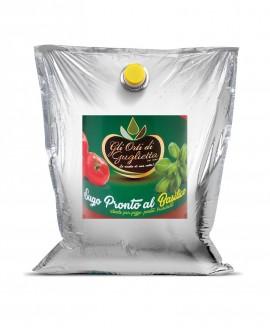 Sugo pronto Pizza & Pasta & Bruschetta Basilico - Bag in Box da 2,5 kg - Gli Orti di Guglietta