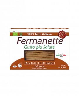 Tagliatelle di farro Fermanette - Pasta lunga integrale biologica - Astuccio da 250g - Pastificio Marcozzi