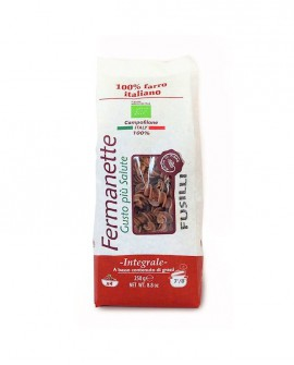 Fusilli di farro Fermanette - Pasta corta integrale biologica - Sacchetto da 250g - Pastificio Marcozzi