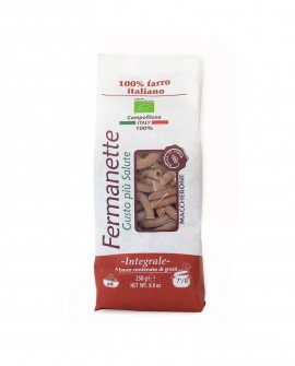 Maccherone di farro Fermanette - Pasta corta integrale biologica - Sacchetto da 250g - Pastificio Marcozzi