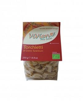 Torchietti Khorasan ViVien Pro Salus - Pasta corta integrale biologica - Sacchetto da 250g - Pastificio Marcozzi