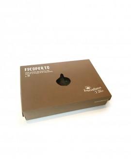 Fichi bianchi del Cilento ricoperti al cioccolato in confezione scatola da 15 pezzi - 200 g - Treccellenze